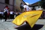 Baile de la bandera en Hinojosa